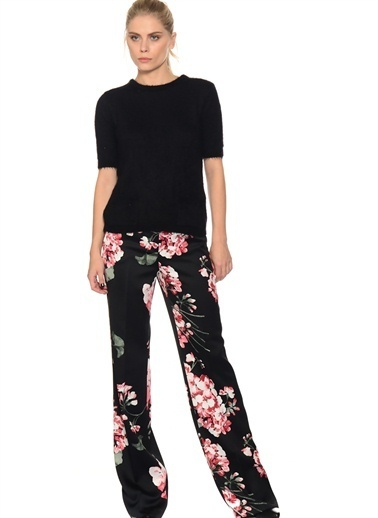 House Of Camellia Çiçekli Pantolon Renkli